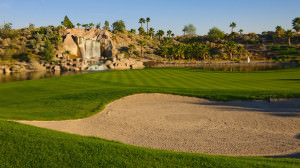 The falls at Eagle Falls course in Indio
