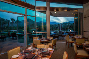Patio dining is offered at Vue