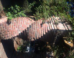 Brick arch at Harvest Inn